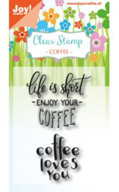 6410/0476-Clearstempel - Coffee txt - Enjoy