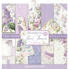 SBBL21-Stamperia Lilac Flowers 12x12 Inch Paper Pack