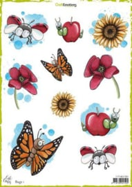 117140/1301-CraftEmotions Decoupage vellen Bugs 1 -Carla Creaties