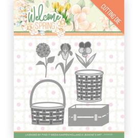 JAD10116 - Dies - Jeanine's Art Welcome Spring - Spring Basket
