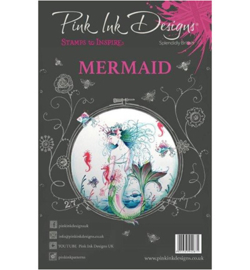 PI011-Creative Expressions • Pink ink A5 clear stamp mermaid