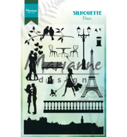 CS1027-Silhouette Paris-clear stempel-MarianneDesign