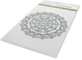 115633/0530-CraftEmotions Die - border rond magic flower Card 10,5x14,8cm