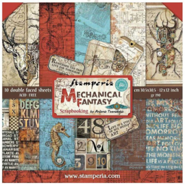SBBL54-Stamperia Mechanical Fantasy 12x12 Inch Paper Pack