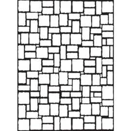 1217-59-Darice Embossingfolder 10,8x14,6cm-Brick wall pattern