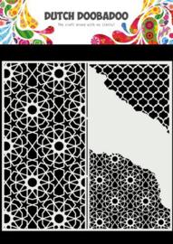 470.784.004-Dutch Doobadoo Dutch Mask Art -Slimline Cracked Patterns- 210x210mm