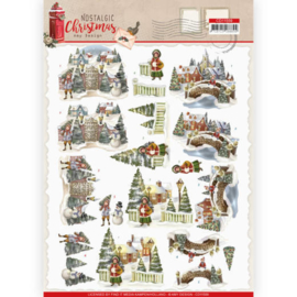 CD11559-3D cutting sheet - Amy Design - Nostalgic Christmas - Christmas Village