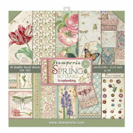 SBBL50-Stamperia Spring Botanic 12x12 Inch Paper Pack