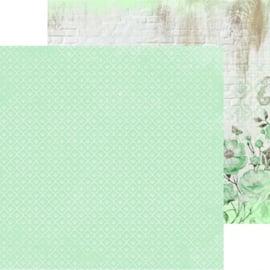 P2528-Kaisercraft paper 30,5x30,5cm Memory lane mint blush