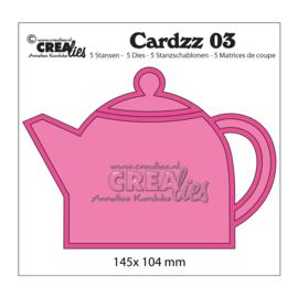 Crealies Cardzz Stanzschablonen no.3 Teekanne/ 145x 104 mm