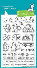 LF2407-Lawn Fawn Let's Go Nuts Clear Stamps