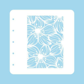 COLST002-Nellie's Choice Schablone für Magnetic colour set Flower-2-A6