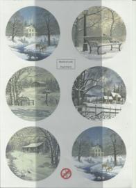 BOWOC 150-2206-UV sneeuwlandschap uitdrukvel