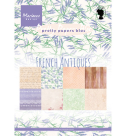 PK9167 - Marianne Design Pretty Papers bloc French Antiques