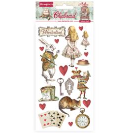 DFLCB39 - Stamperia Chipboard 15x30cm Alice In Wonderland