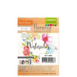 2911-0001-Florence-Aquarelpapier texture-300g-A6 20pcs