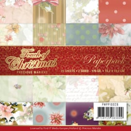 PMPP10028-Paperpack - Precious Marieke - Touch of Christmas