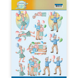 CD11400-3D Knipvel - Yvonne Creations- Party Together