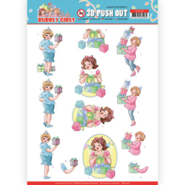 SB10438- 3D Pushout - Yvonne Creations - Bubbly Girls - Party - Decorating