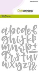 115633/0513 - CraftEmotions Die - alfabet handlettering kleine letters Card