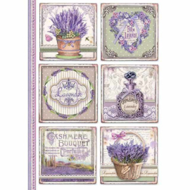 DFSA4366-Stamperia Rice Paper A4- Provence Cards