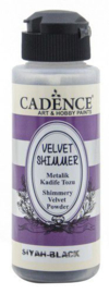 801520/2007-Cadence Velvet shimmer powder Zwart-120 ml