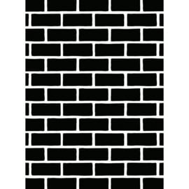 1218-108-Darice Embossingfolder 10,8x14,6cm-Brick