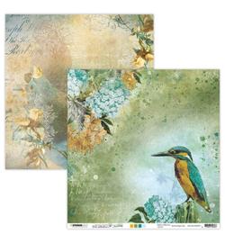 JMA-NA-SCRAP33 - JMA Scrap Kingfisher & Waterfall New Awakening nr.33
