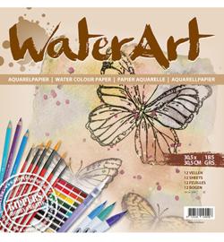 1078-Aquarelkarton-Water Art-185 grs-30,5x30.5cm