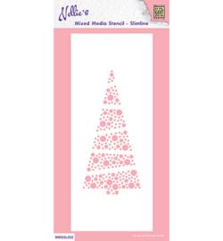 MMSSL022-Slim line stencils- Xmas tree