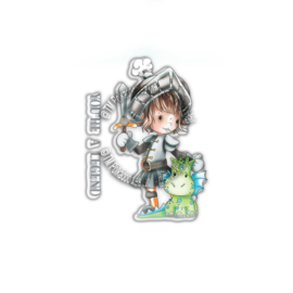 PD7855-Polkadoodles Little Dudes Legend Knight Clear Stamps
