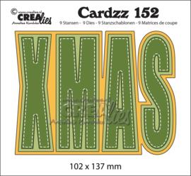 CLCZ152-Crealies-Cardzz stansen no. 152, XMAS (kaartformaat)