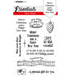 SL-ES-STAMP86 - SL Clear stamp Christmas Merry Christmas ENG Essentials nr.86