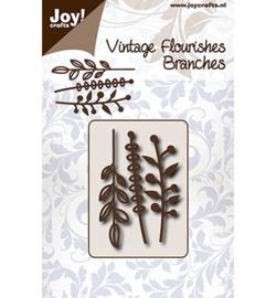 6003/0091 - Vintage Flourishes - 3 Takjes-JoyCrafts