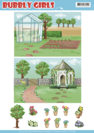 CD11286-Background Sheets - Yvonne Creations - Bubbly Girls - Gardening