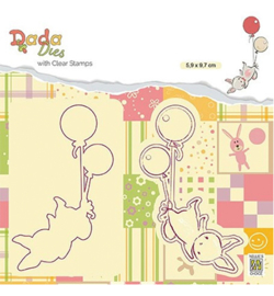 DDCS005-Dada Dies clear stamp Balloon flight