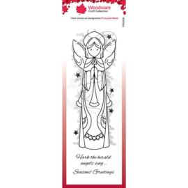 FRS402-Creative Expressions • Woodware clear stamp celestial angel