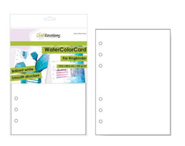001286/3480-CraftEmotions WaterColorCard - bril. Ringband wit- 10 vl -14,5x20,5cm - 350 gr - 6 Ring A5