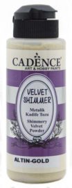 801520/2002-Cadence Velvet shimmer powder Goud-120 ml