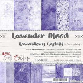 CC-ZS-BC09-Craft O'Clock- Lavender Mood-20,3x20,3cm