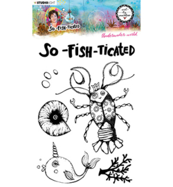 ABM-SFT-STAMP10 - ABM Clear Stamp Underwater world So-Fish-Ticated nr.10