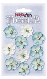 3866013-FLORELLA-Blüten hellblau, 2,5cm