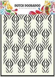 470.715.117-Dutch Doobadoo Dutch Mask Art A5 Floral Feather