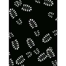 1218-123-Darice Embossingfolder 10,8x14,6cm-Boot tracks