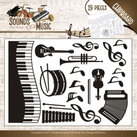 ADCB1001-Amy Design - Chipboard Sounds of Music