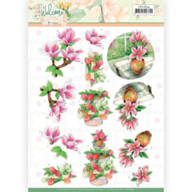 CD11634 - 3D cutting sheet - Jeanine's Art Welcome Spring - Pink Magnolia