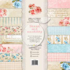 LZP-SENS01 -Set of scrapbooking papers - Sense and sensibility