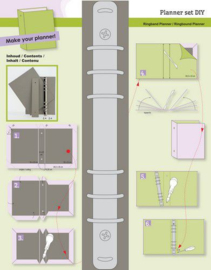 115633/2010-CraftEmotions Ringband Planner - DIY  basis voor papier A5