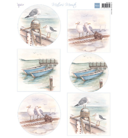 MB0180-Marianne Design-Matties Mooiste boats-A4, 6 designs