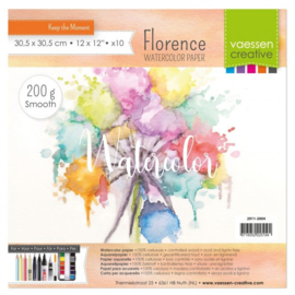 2911-2004-Florence-Aquarelpapier smooth-200g-30,5x30,5cm 10pcs